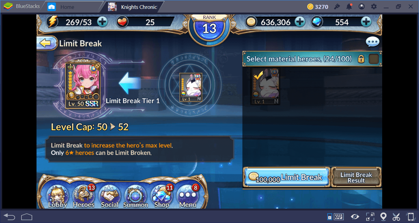 Leveling, Evolving, and Upgrading Your Knights Chronicle Heroes