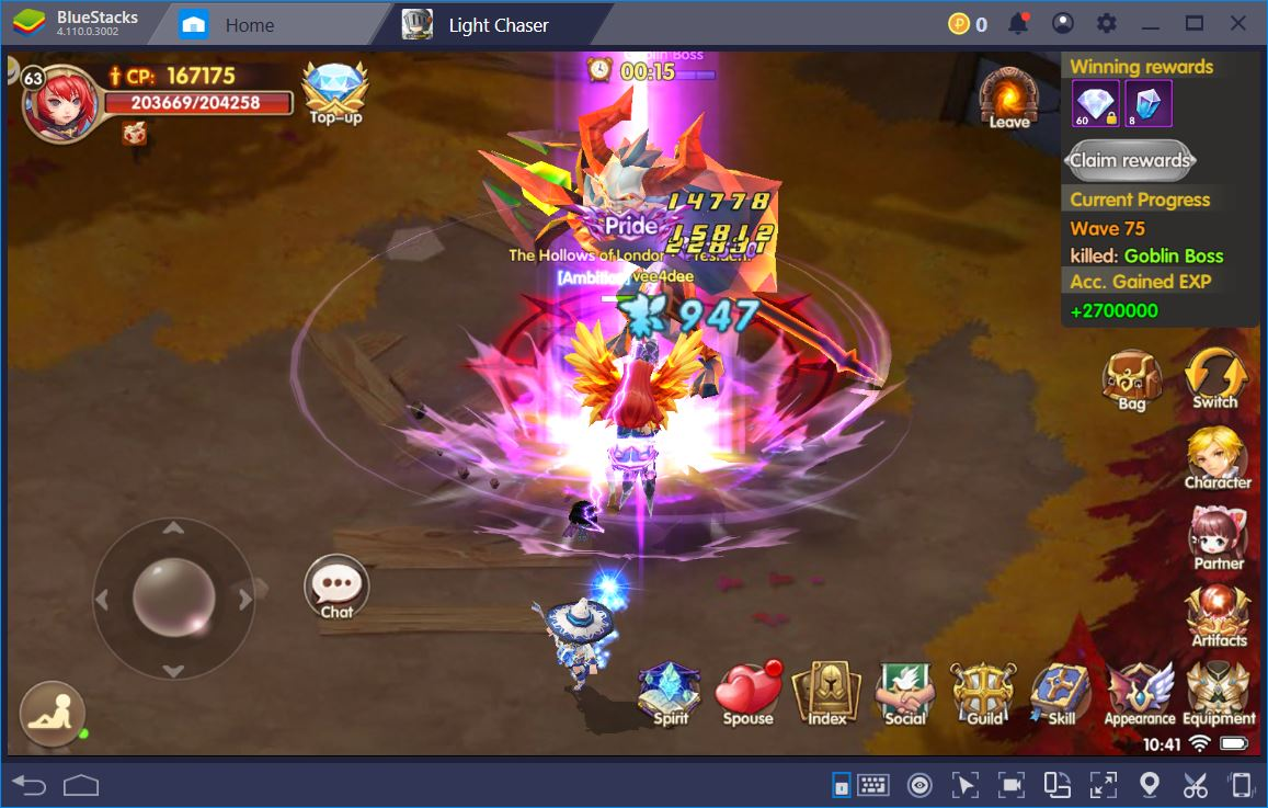 Light Chaser - Conquer All Dungeons and Events