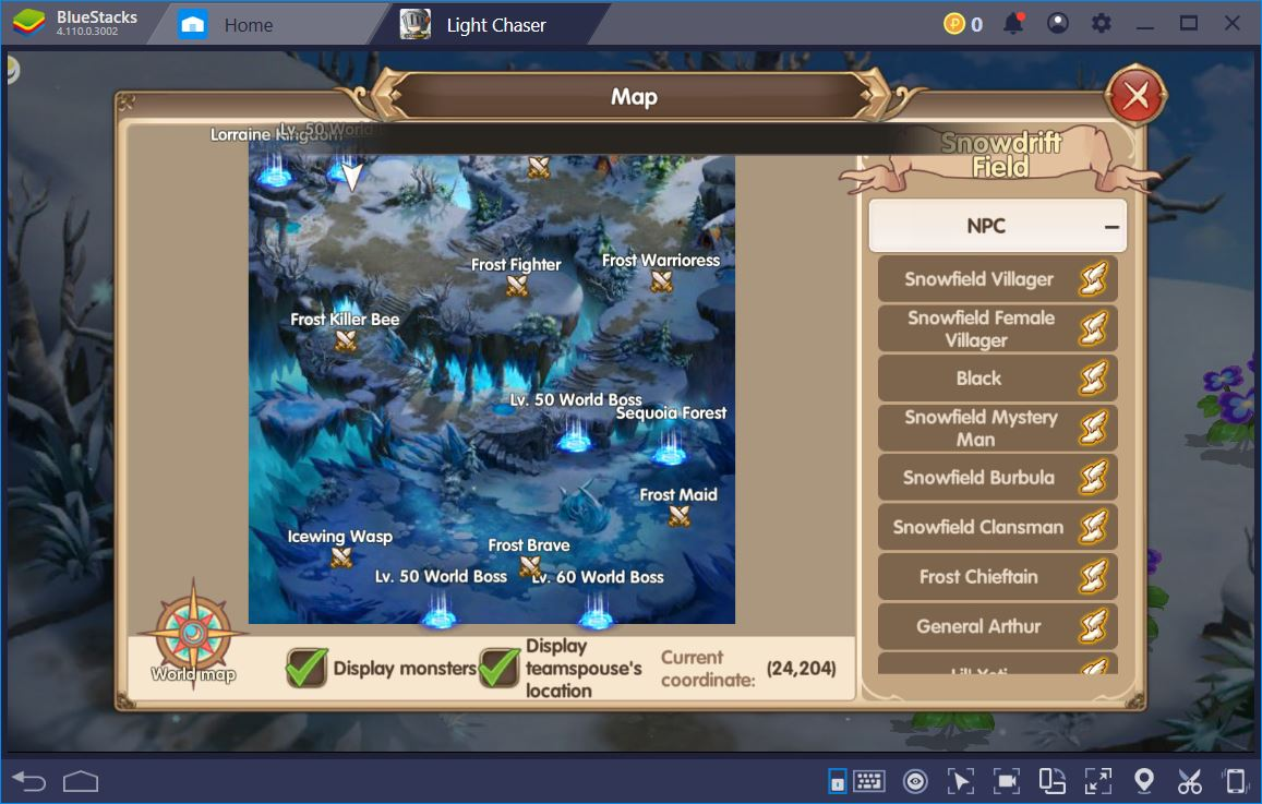 Banish Evil in Light Chaser with BlueStacks