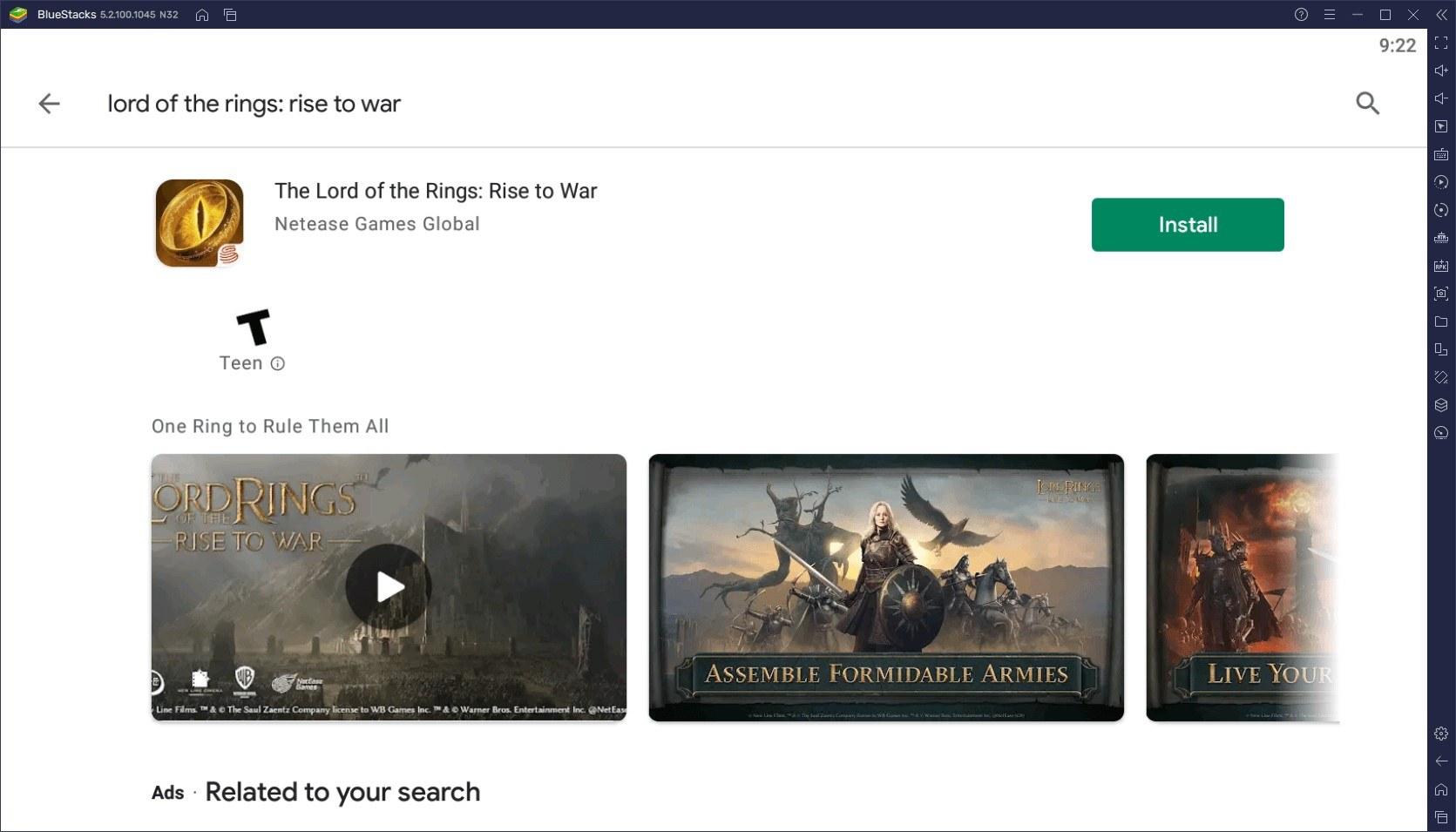 كيف تلعب لعبة Lord of the Rings: Rise War على جهاز الكمبيوتر باستخدام BlueStacks