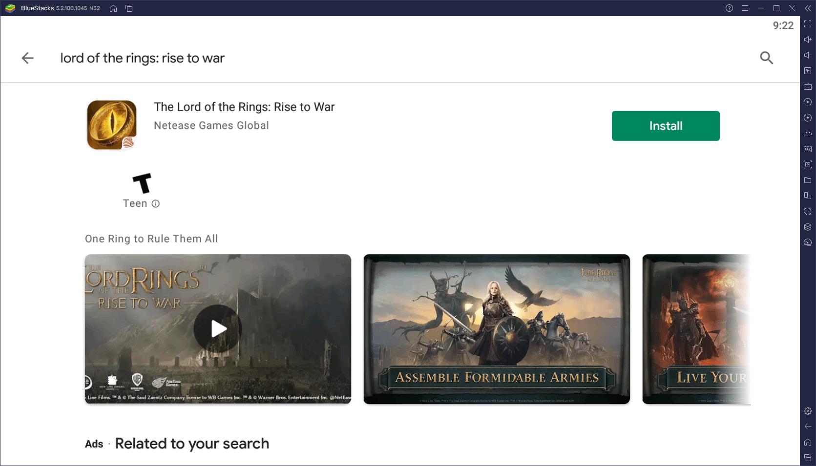 Comment Jouer au Seigneur des Anneaux: Appel sur PC avec BlueStacks