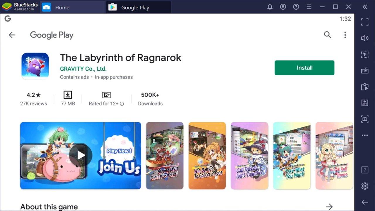 Cara Mengunduh dan Memainkan Game RPG The Labyrinth of Ragnarok di BlueStacks