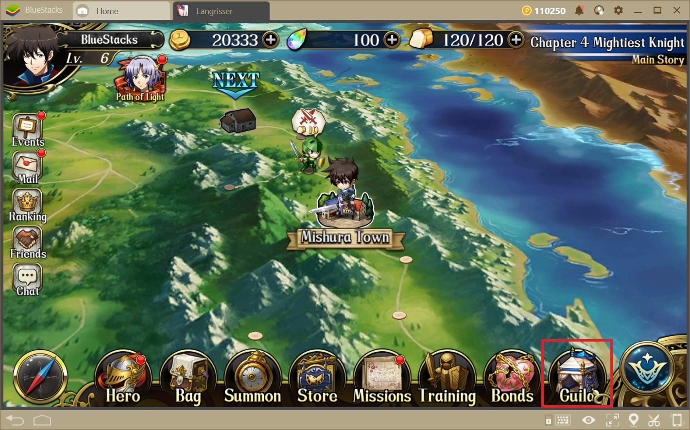 Langrisser on BlueStacks—Simple and Comfortable