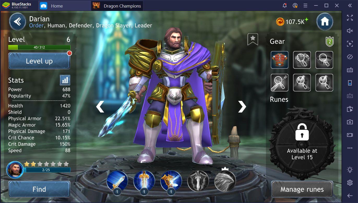 Les héros dans Dragon Champions sur PC – Débloquer les meilleurs personnages du jeu
