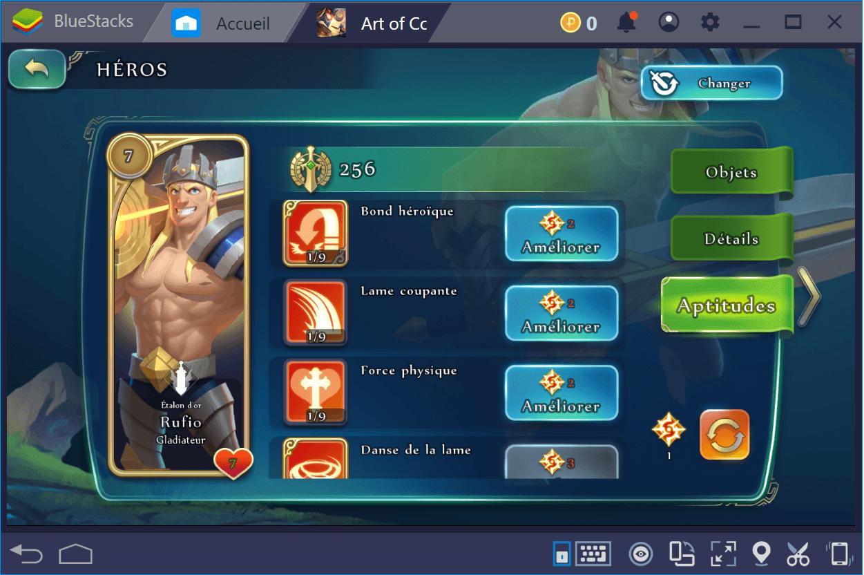 Les héros gratuits de Art of Conquest