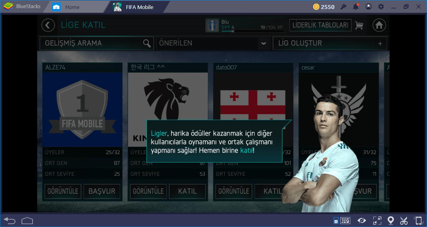 FIFA Futbol: FIFA World Cup (FIFA Mobile) FUT ve Lig Rehberi