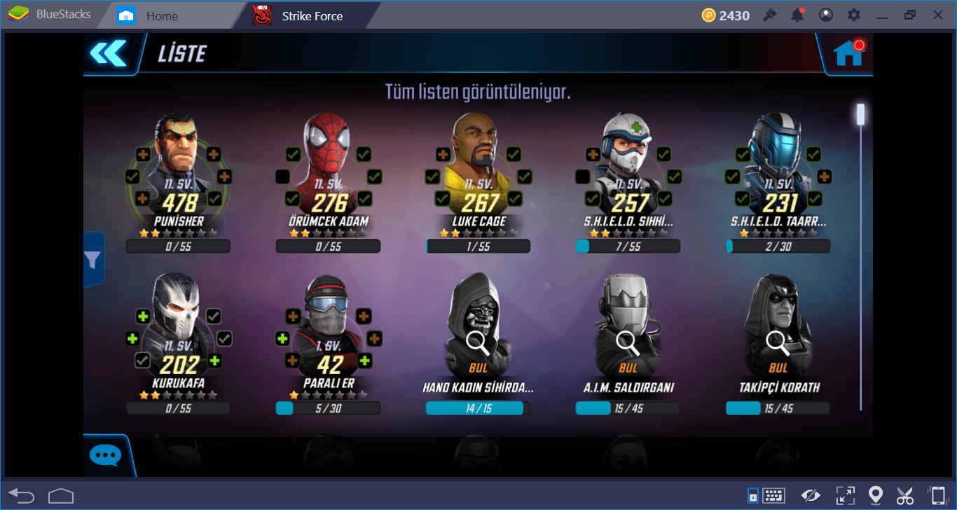 MARVEL Strike Force: En iyi Kahraman ve Kotu Adamlar