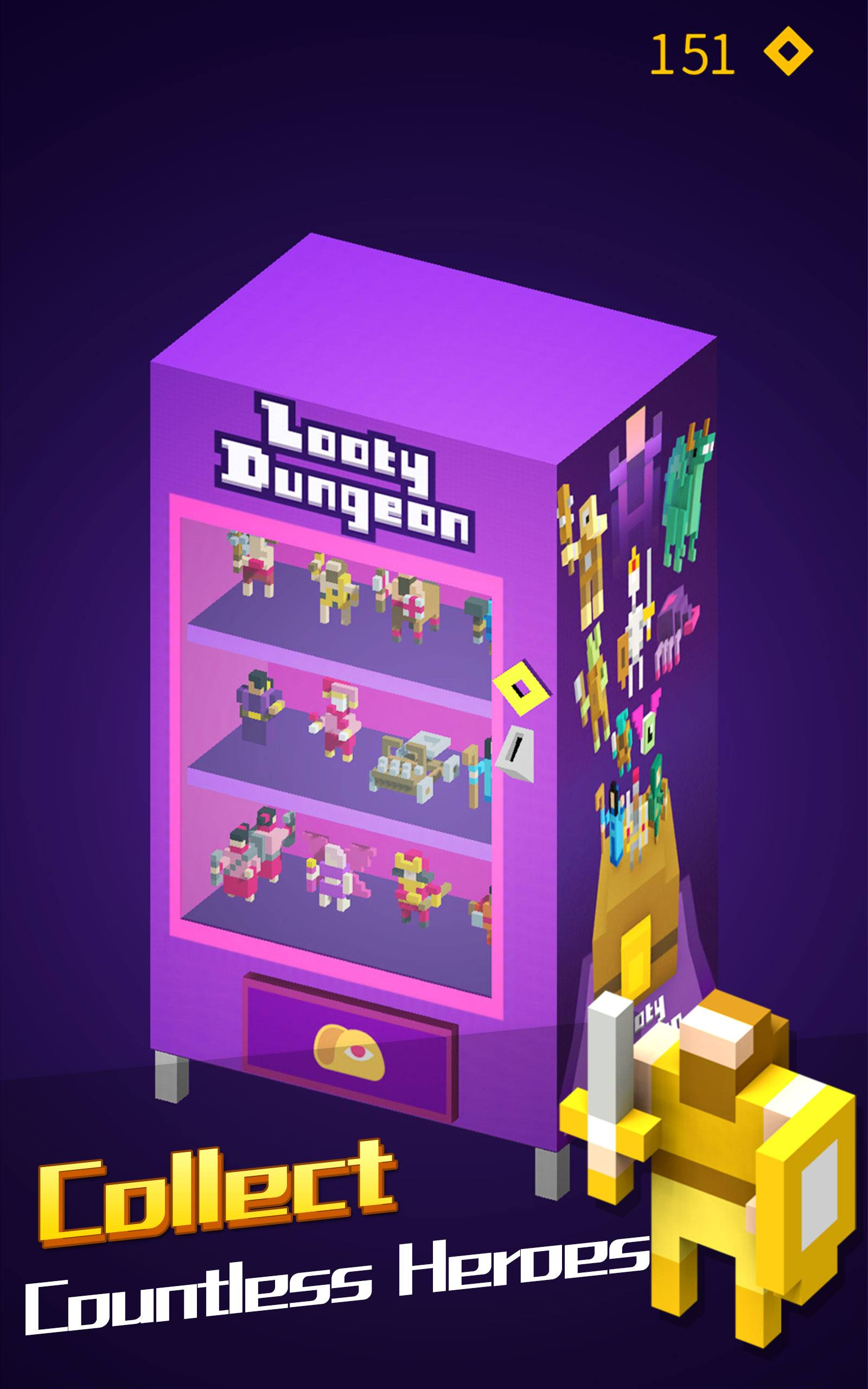 Looty Dungeon endless arcade game – reach exit before floor drops!