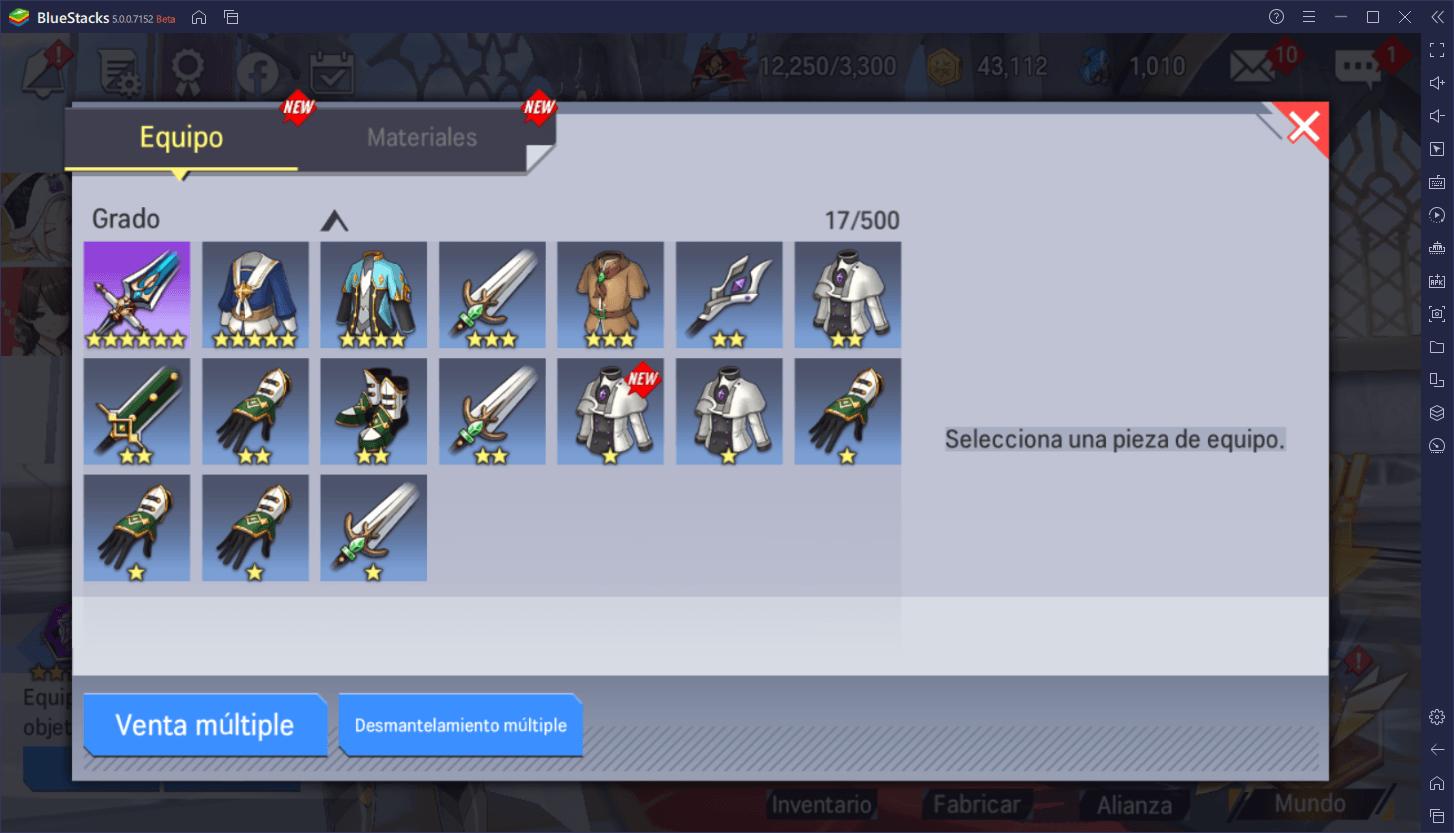 Lord of Heroes – Introducción al Sistema de Equipamiento