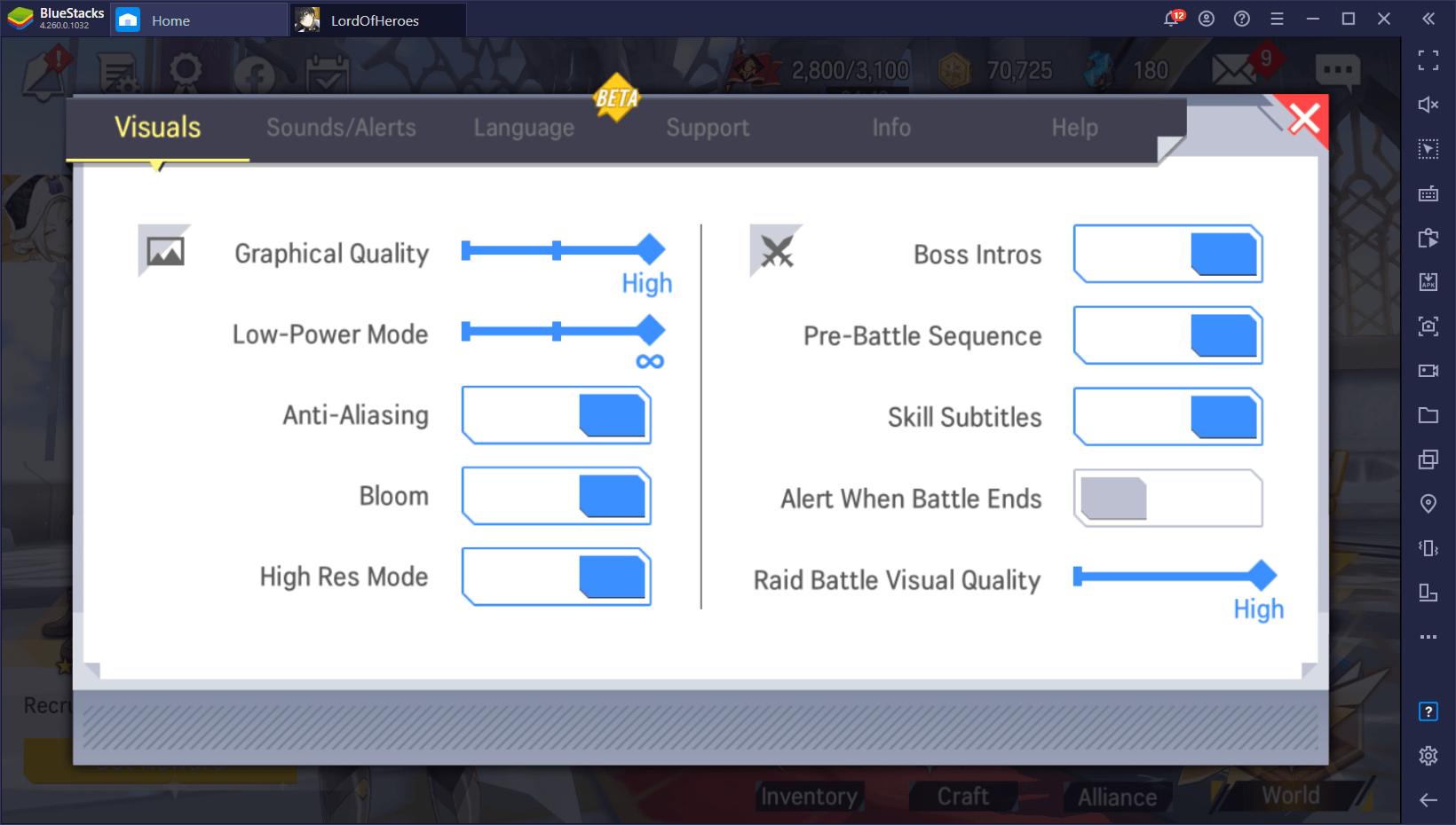 أفضل النصائح والحيل والاستراتيجيات في لعبة Lord of Heroes على جهاز الكمبيوتر