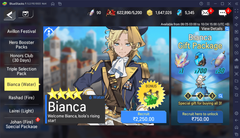 Lord of Heroes – New Hero Water Bianca, Dark Astrid, and Mercenary Training Grounds