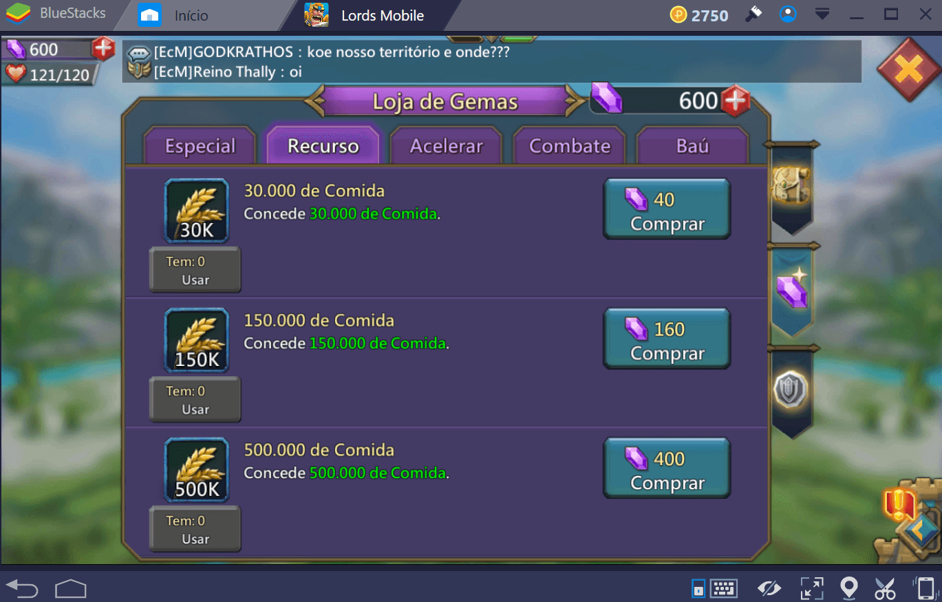Mecânica de jogo de Lords Mobile
