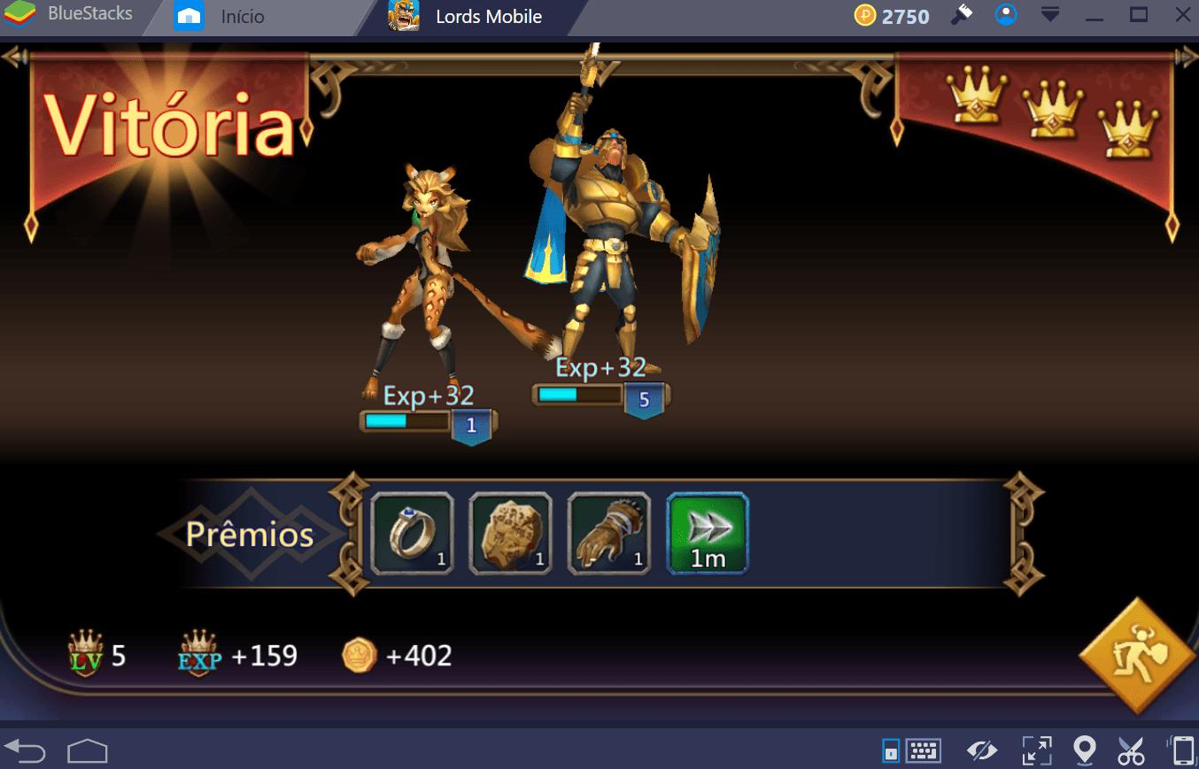 Como desbloquear e evoluir seus heróis em Lords Mobile