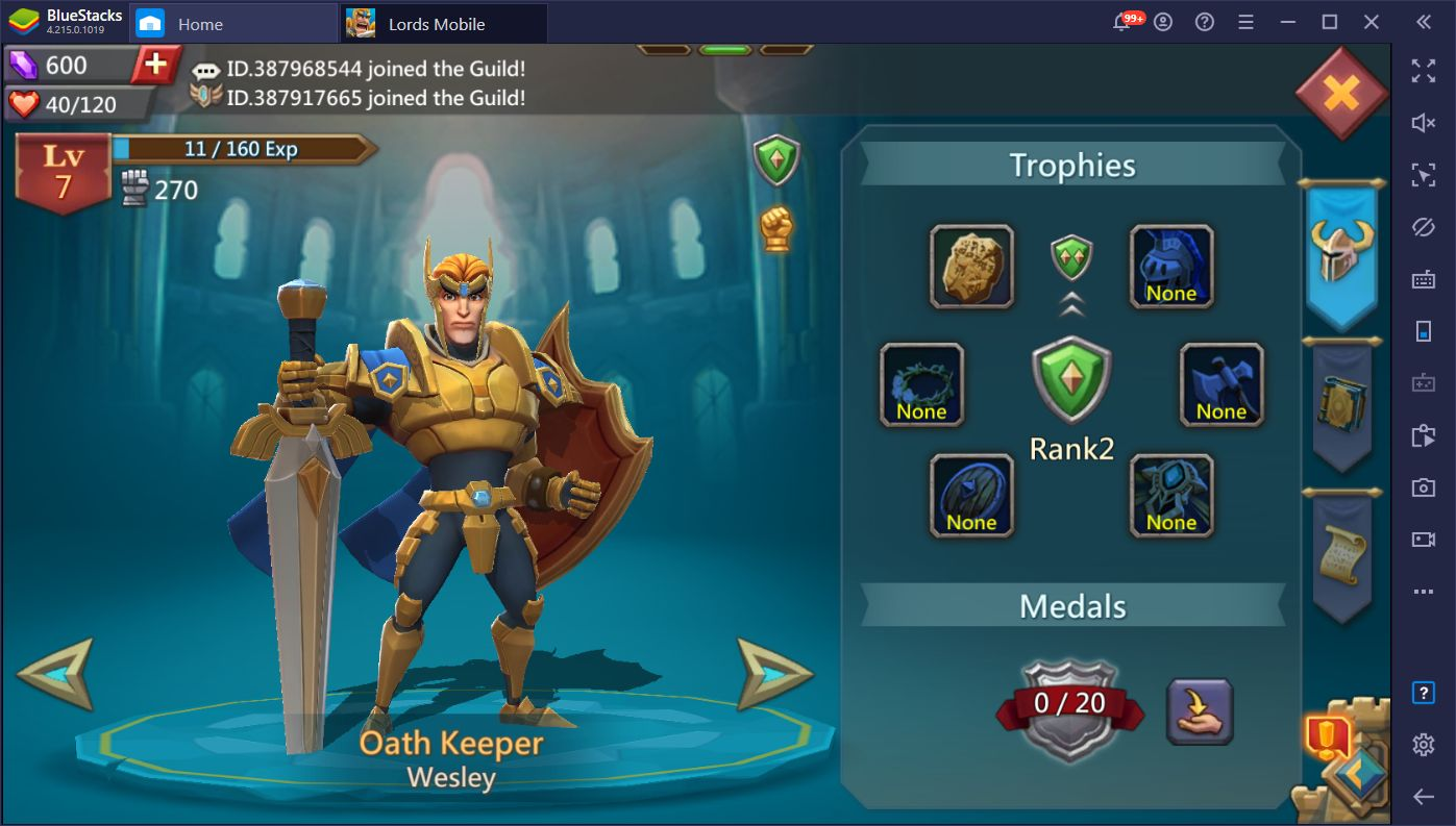 Lords Mobile July 2020 Update – New Guild Bash Challenges, Daily Quests, and Other Goodies!