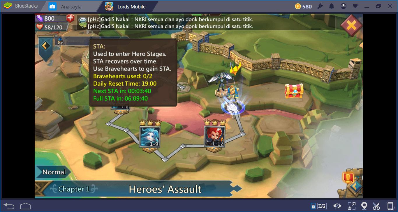 Lords Mobile: كيفية فتح أبطال جدد وترقية مستواهم بسرعة