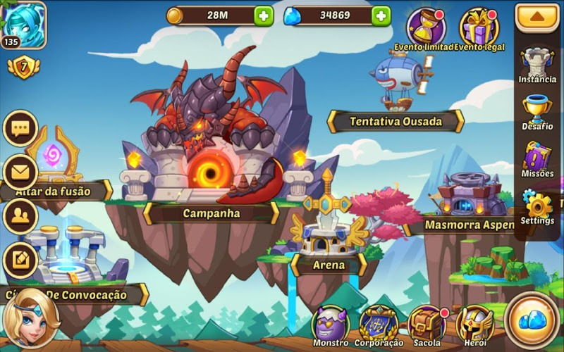 Jogue Idle Heroes para PC 8