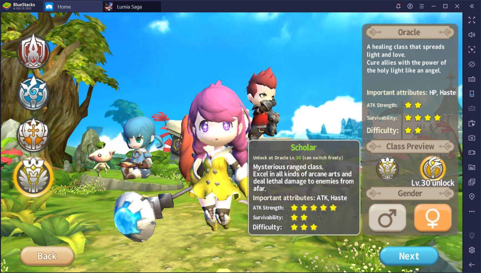 Lumia Saga : Le guide complet sur les classes et le développement des personnages