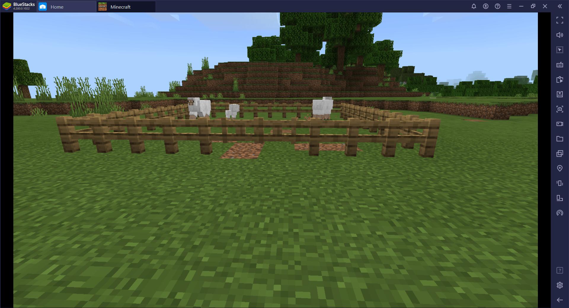 Guide BlueStacks pour construire une ferme animalière dans Minecraft