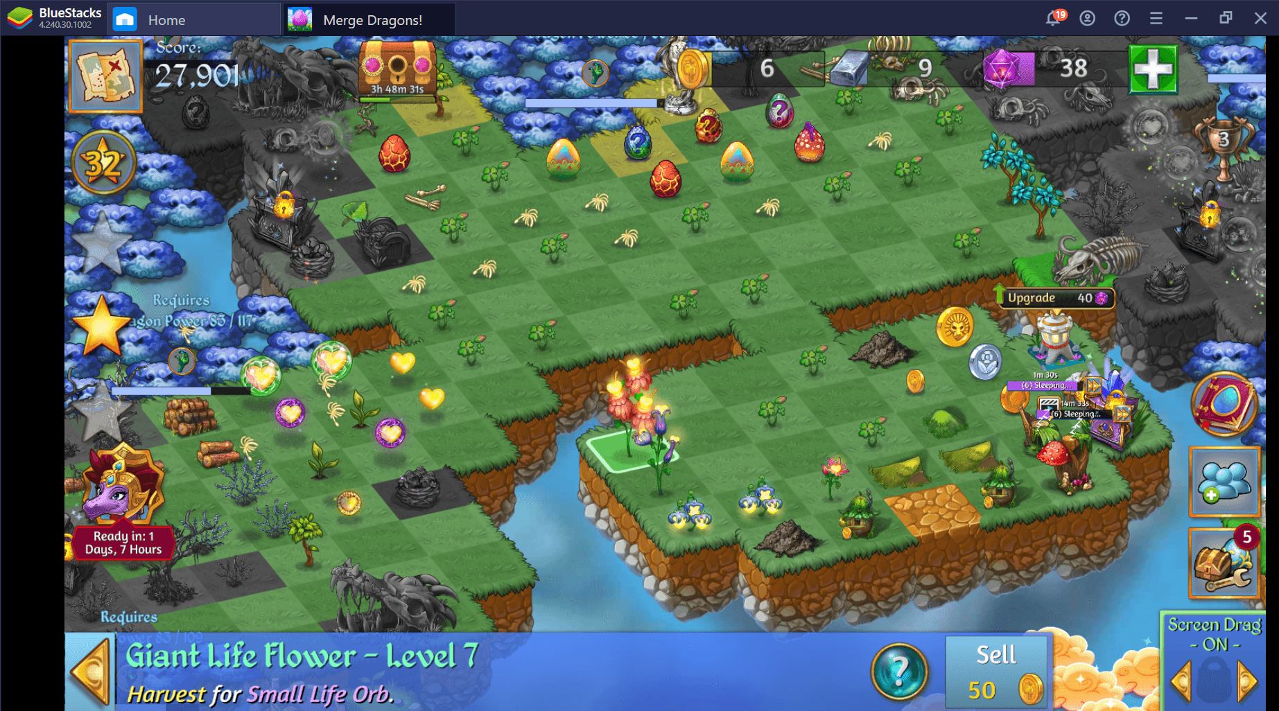 How to Gain Life Flowers in Merge Dragons on PC to Progress Faster
