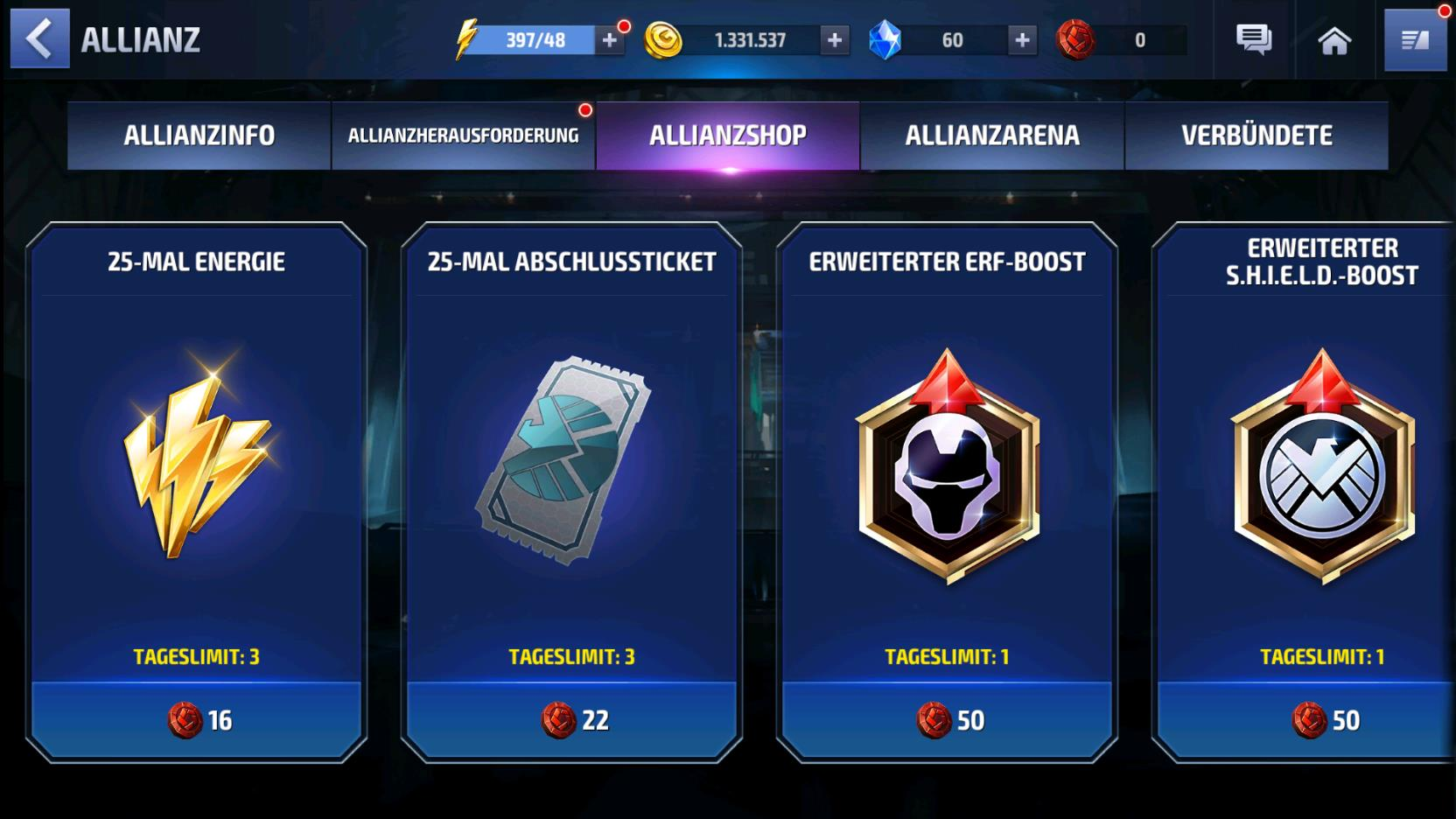 MARVEL Future Fight: Energie Guide