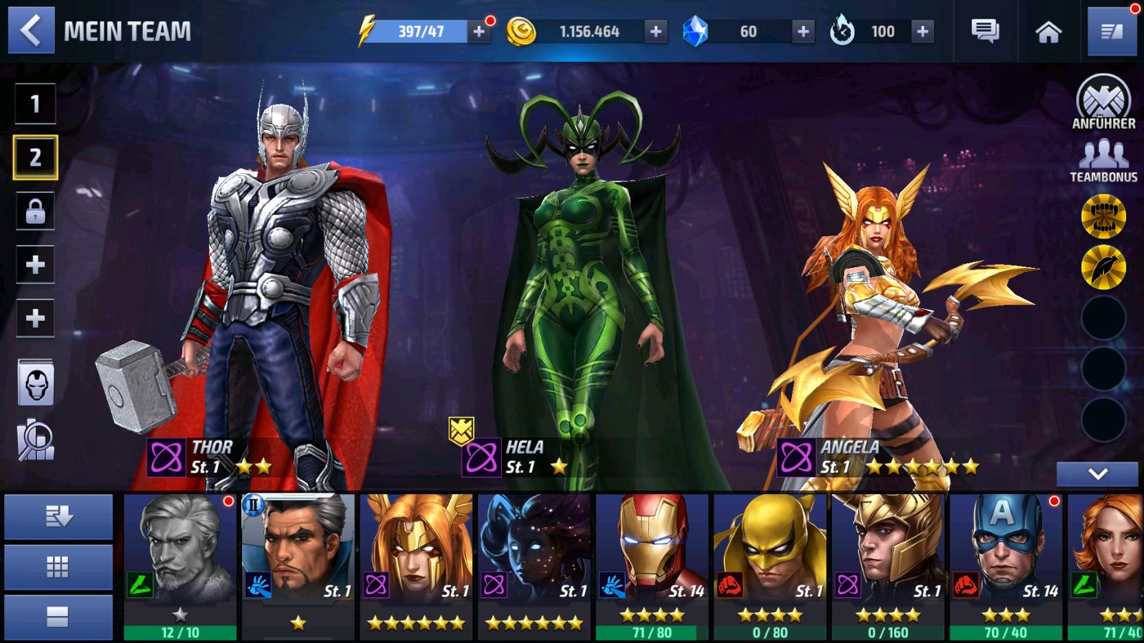 MARVEL Future Fight: Guide zur Teambildung