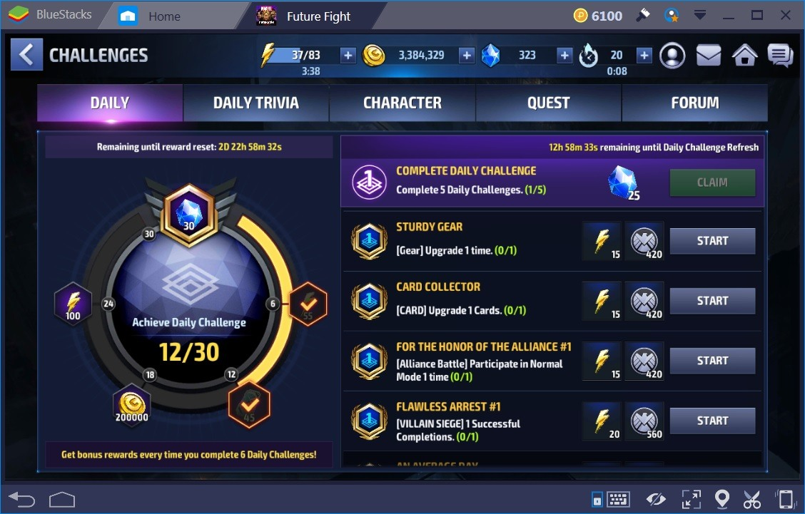 Marvel Future Fight Daily Quests