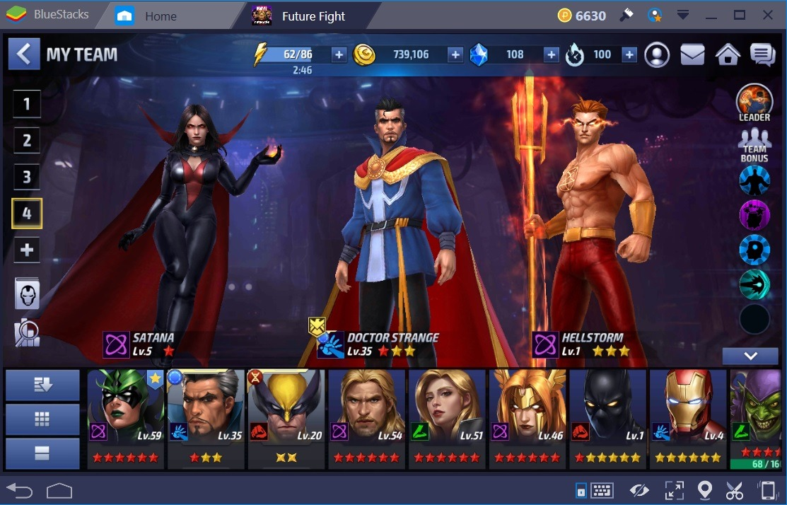 Marvel Future Fight Dr Strange Santana Hellstorm