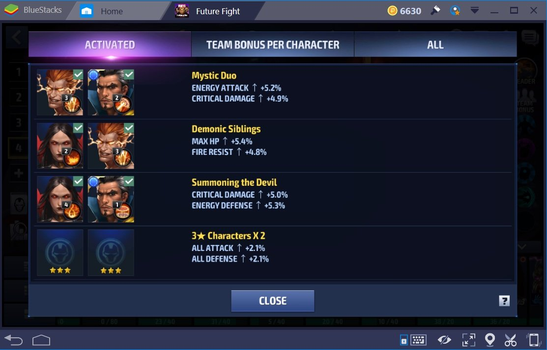 Marvel Future Fight Dr Santana Team Bonuses