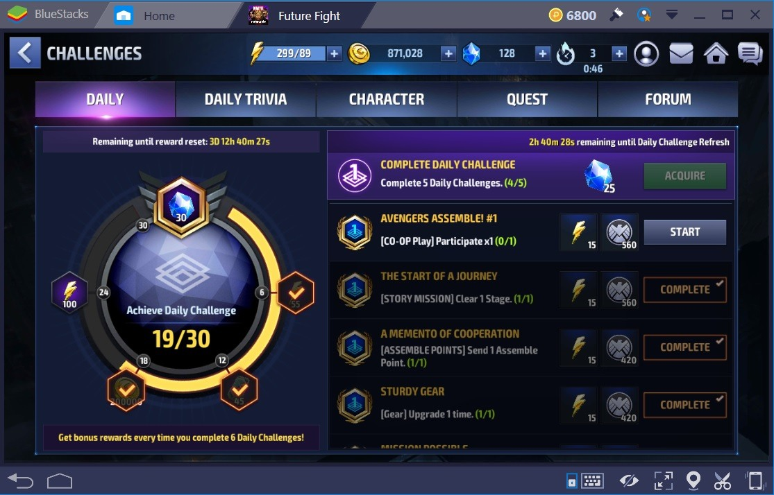 Marvel Future Fight Energy Challenges