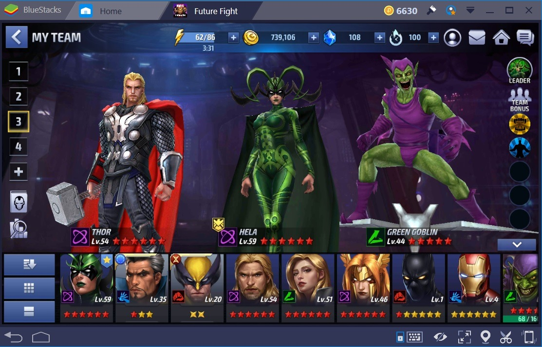 Marvel Future Fight Thor Green Goblin
