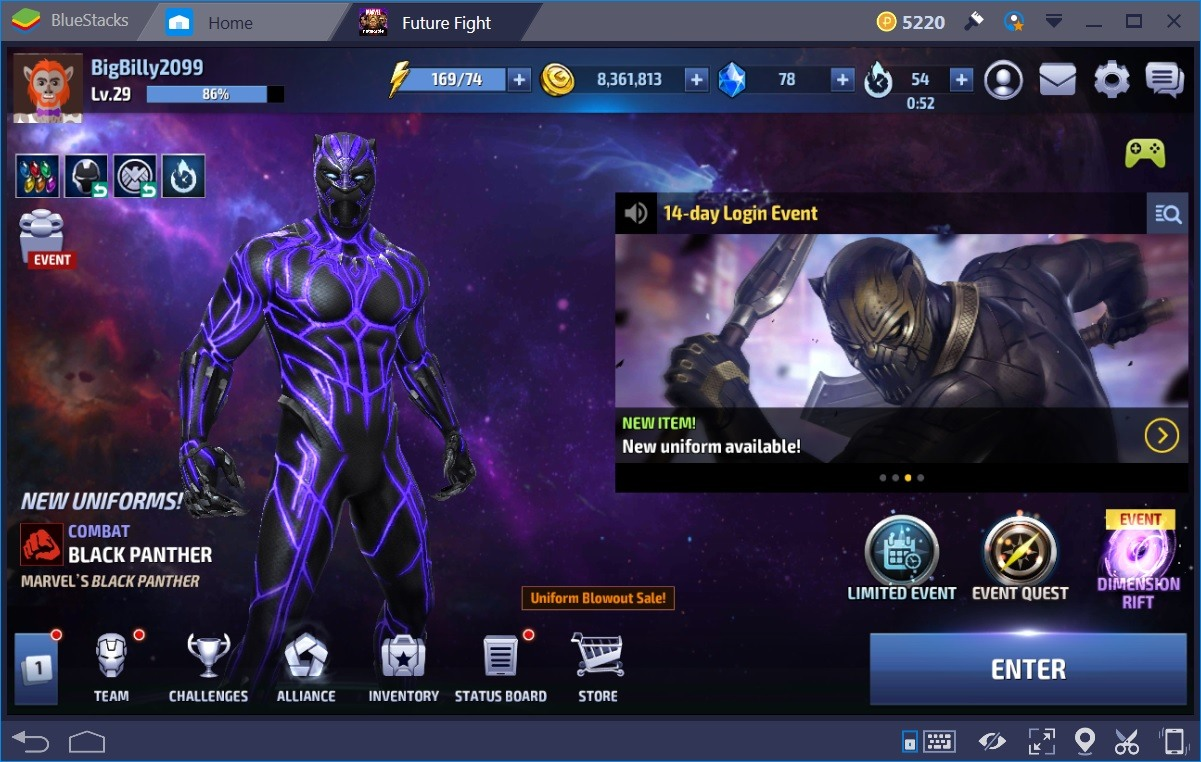 Marvel Future Fight Main Screen