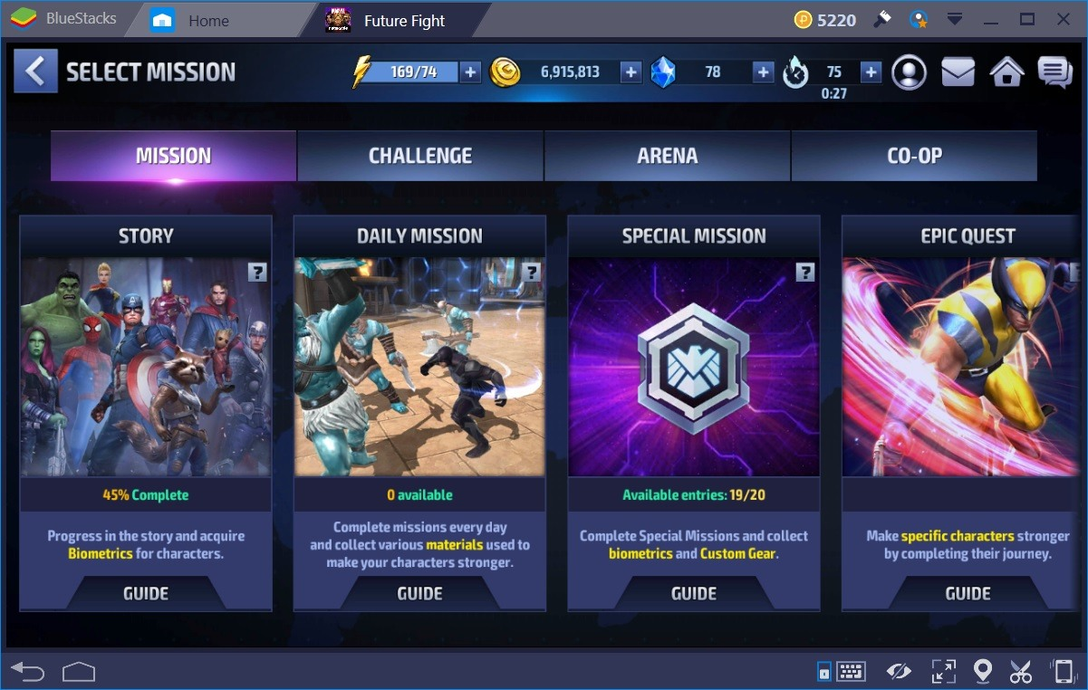Marvel Future Fight Mode
