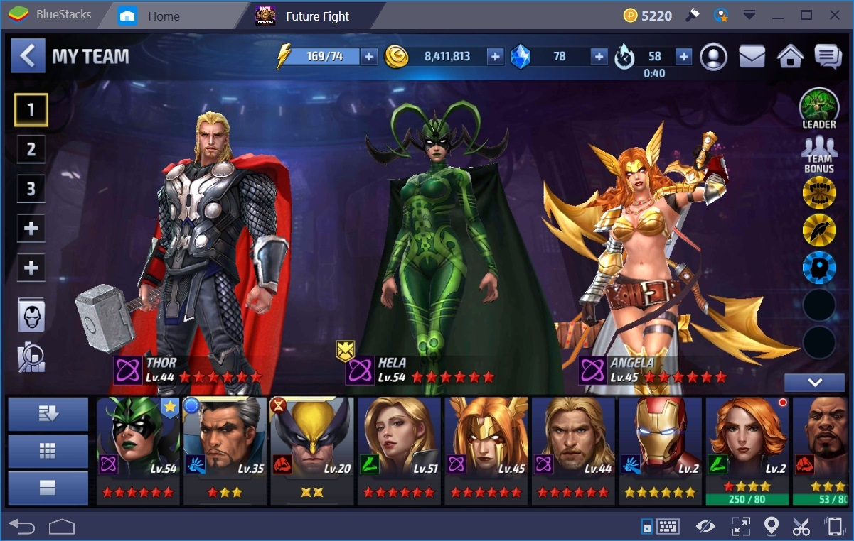 Marvel Future Fight My Team