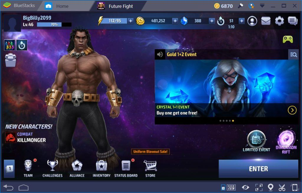 MARVEL Future Fight Account Switching Guide for BlueStacks