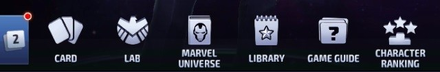 Marvel Future Fight Second Menu