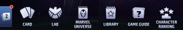 Marvel Future Fight Second Menu