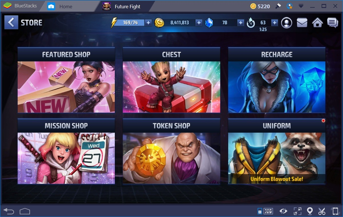Marvel Future Fight Store