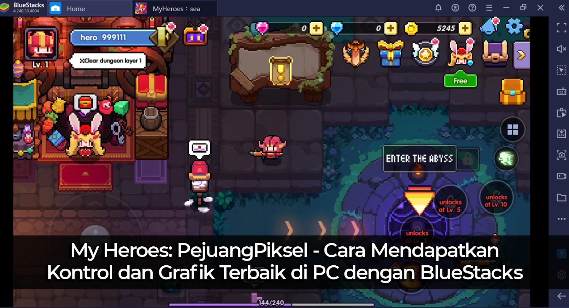 My Heroes: PejuangPiksel – Cara Mendapatkan Kontrol dan Grafik Terbaik di PC dengan BlueStacks