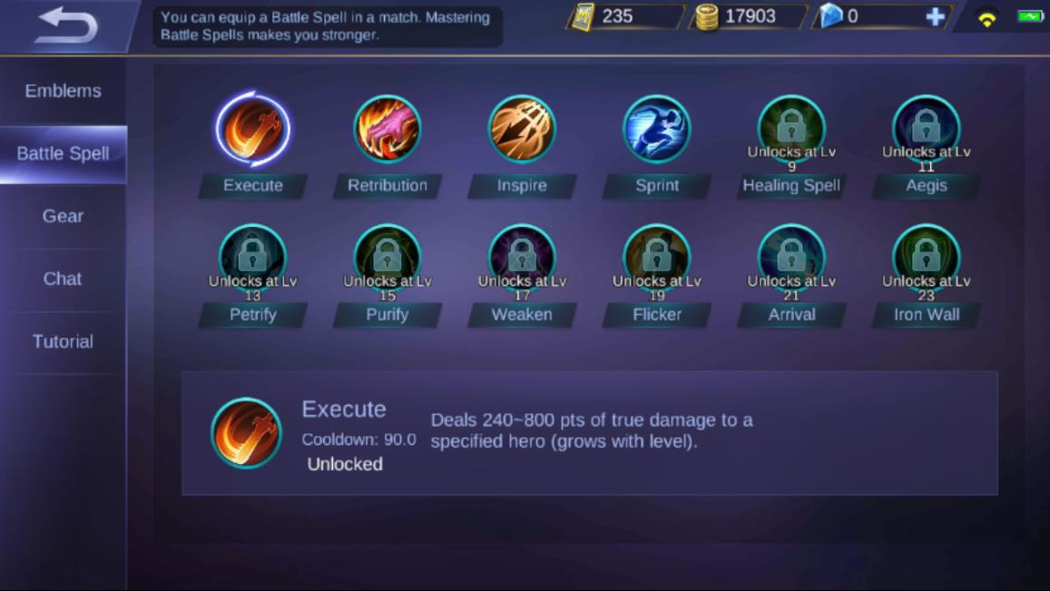 Mobile Legends Battle Spells