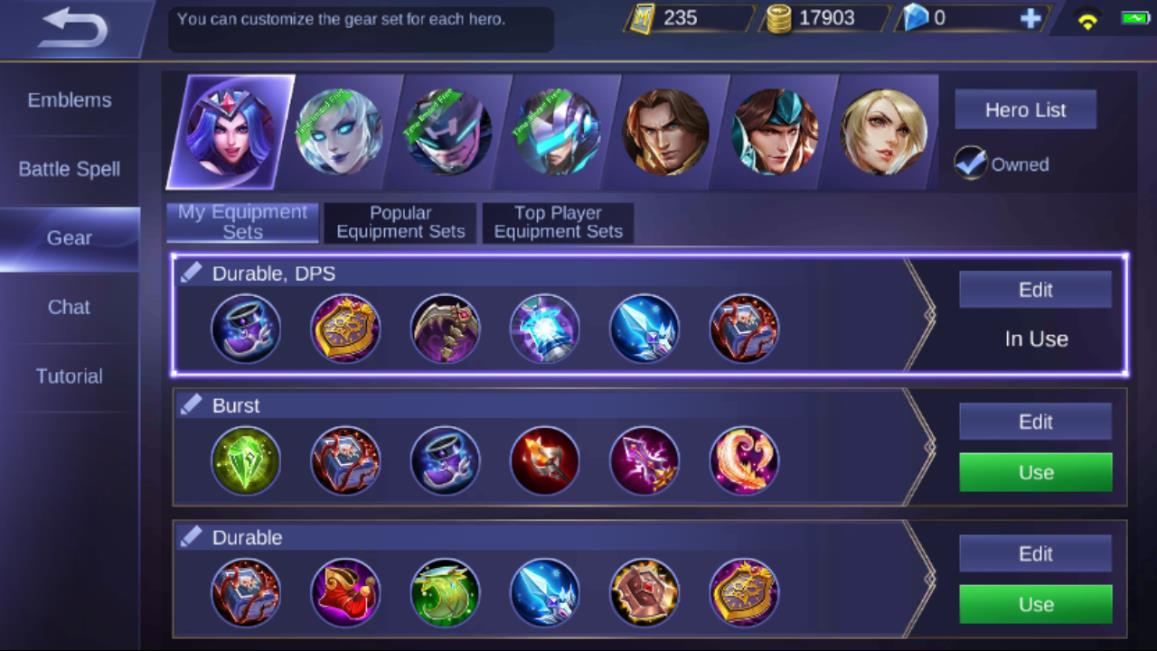 Mobile Legends Gear