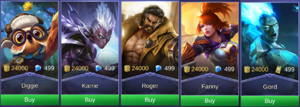 Mobile Legends Heroes 24K 1