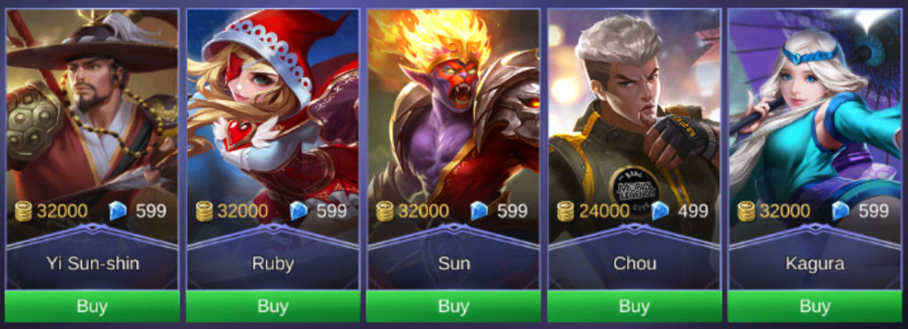 Mobile Legends Heroes 32K 2