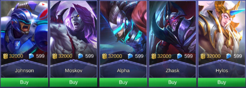 Mobile Legends: Bang Bang Heroes Buying Guide