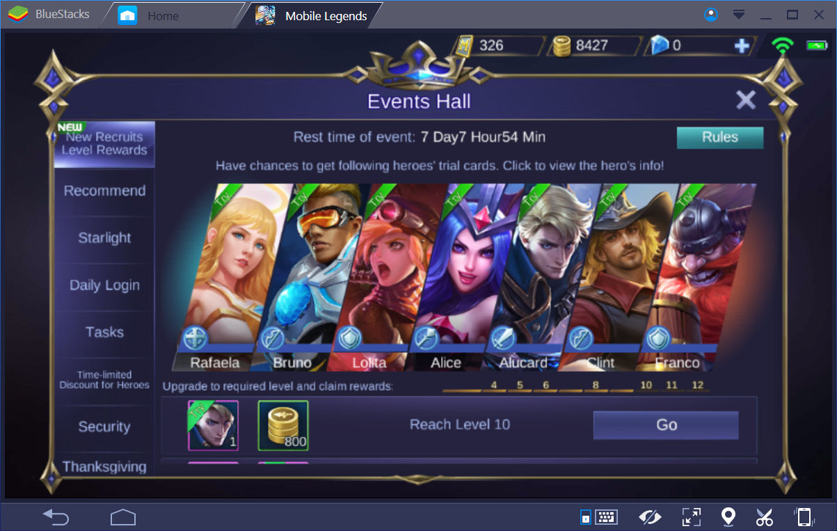 Mobile Legends Heroes Events