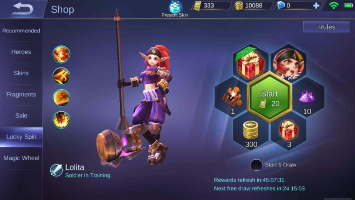 Mobile Legends Heroes Lucky Spin