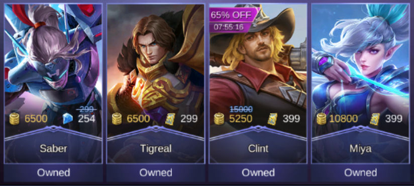 Mobile Legends Heroes Owned 2