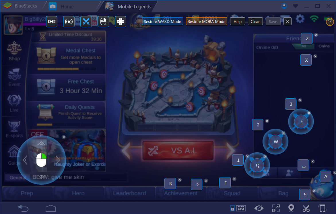 Mobile Legends Keymap Controls