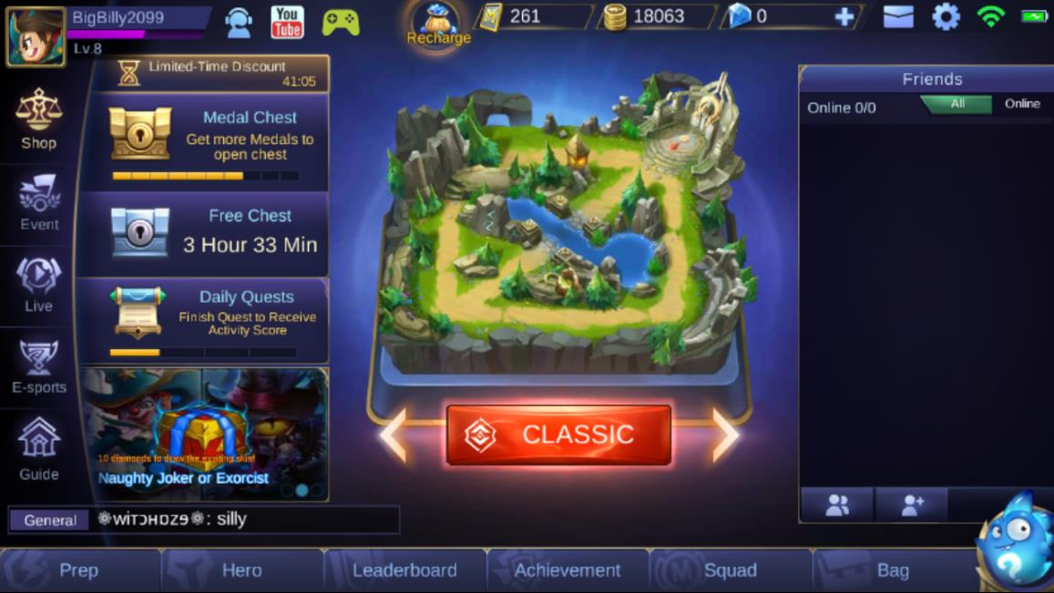 Mobile Legends Main Screen 2