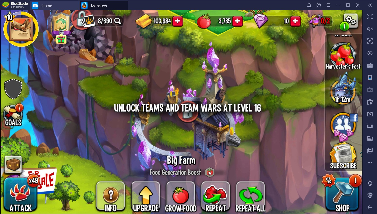 Monster Legends: Food and PvP Guide