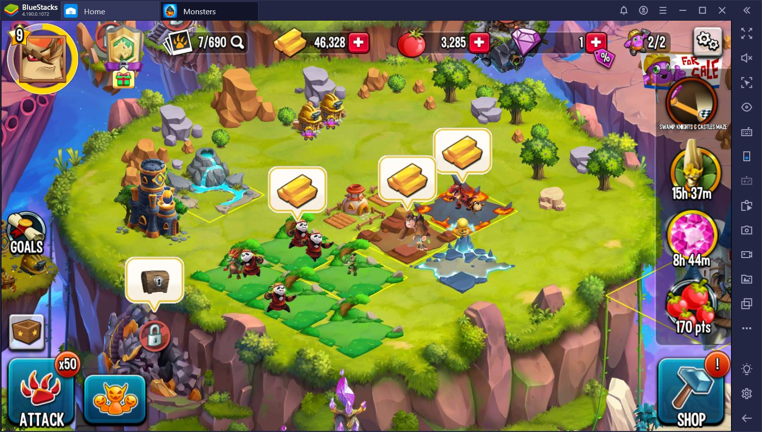 Monster Legends on PC – Gold Farming Guide